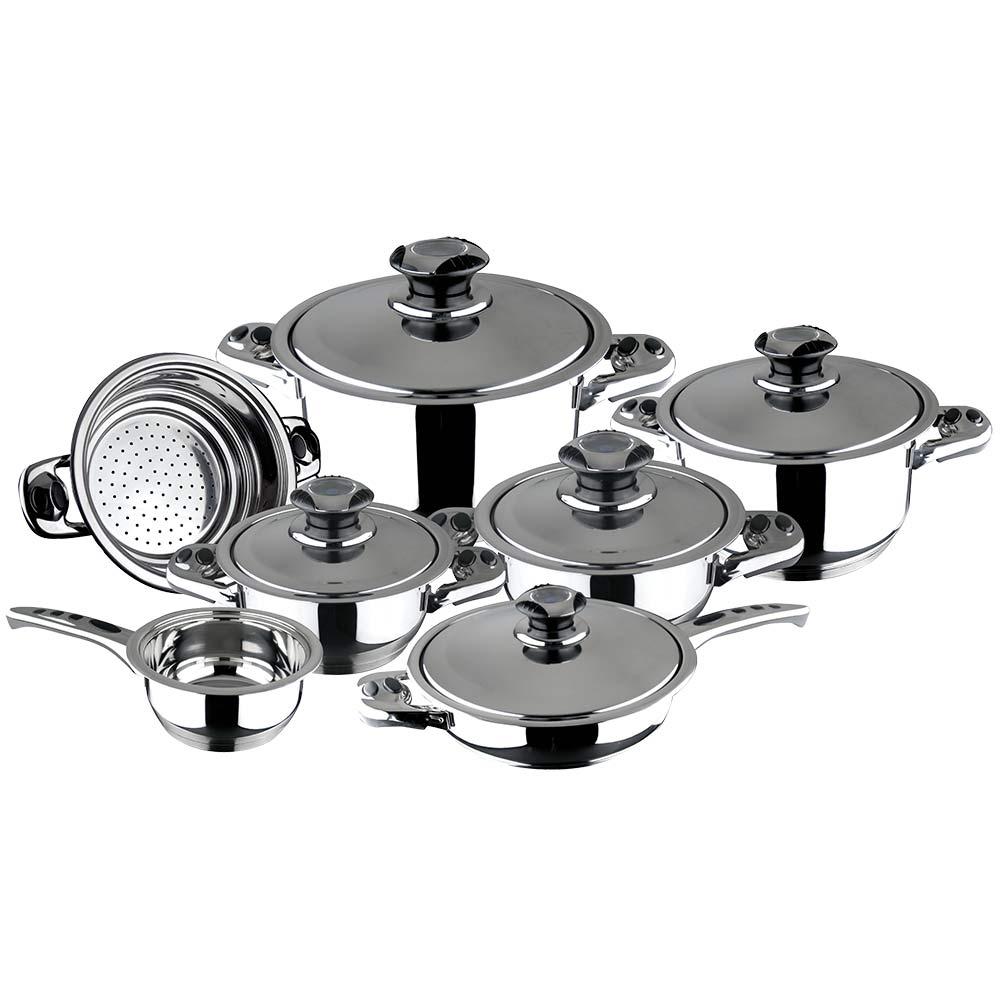 Bater a de cocina magefesa 12 piezas acero ecotherm bater as y sartenes cocina hogar - Bateria de cocina solingen 12 piezas ...