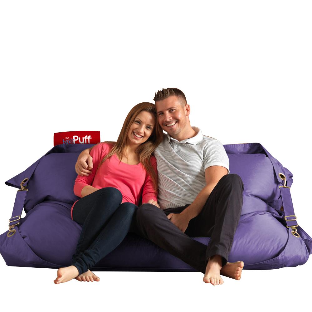 Sillon cama basic puff straps color morado - Sillon puff cama ...