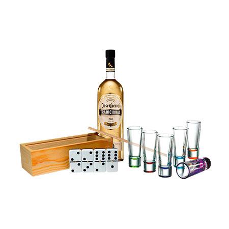 Set De Tequila Cuervo Vasos Tequileros Juego De Mesa Setf231