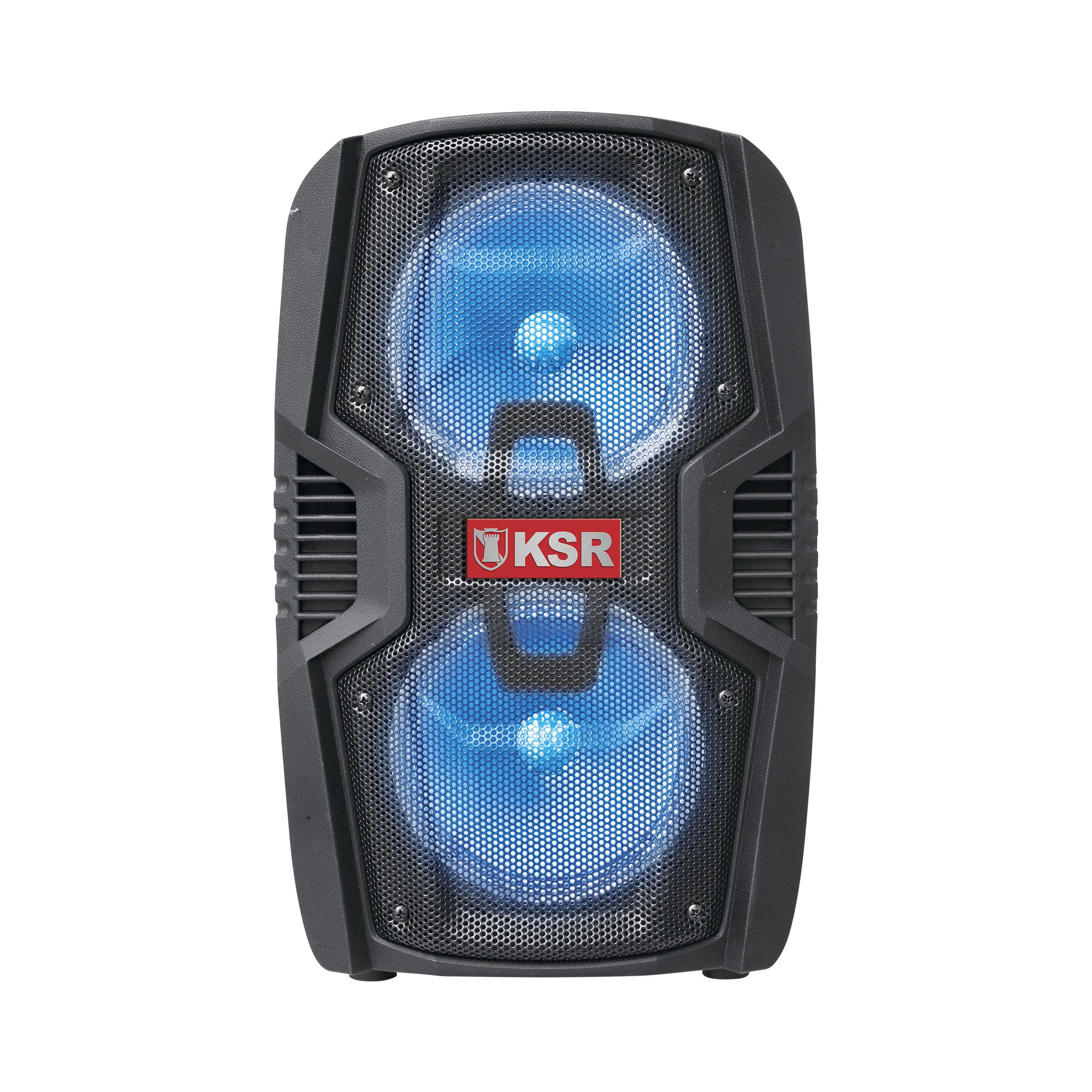 """BAFLE RECARGABLE 2 X 6.5"""" 5500 W PMPO KAISER NEGRO MSA-6510"""